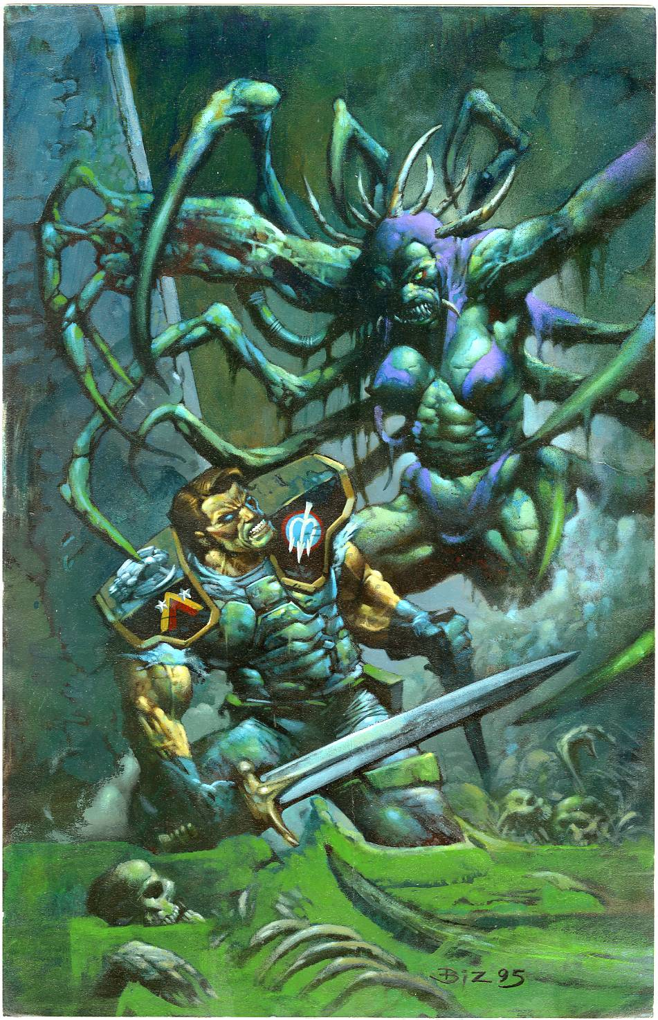 Question: What kind of paint Simon Bisley uses in those paintings?